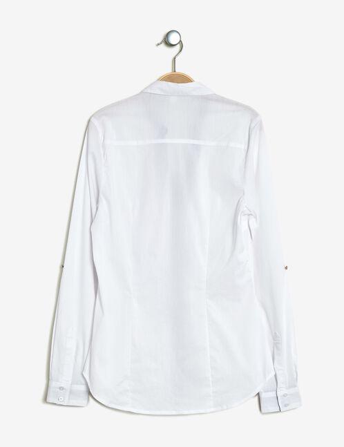 chemise basic cintré blanc