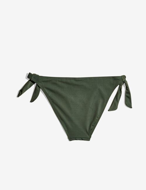 Khaki side-tie bikini briefs