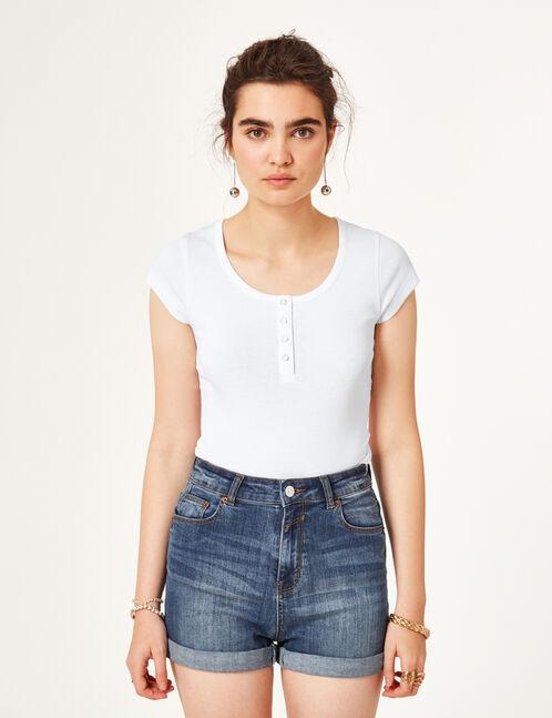 Basic white bodysuit