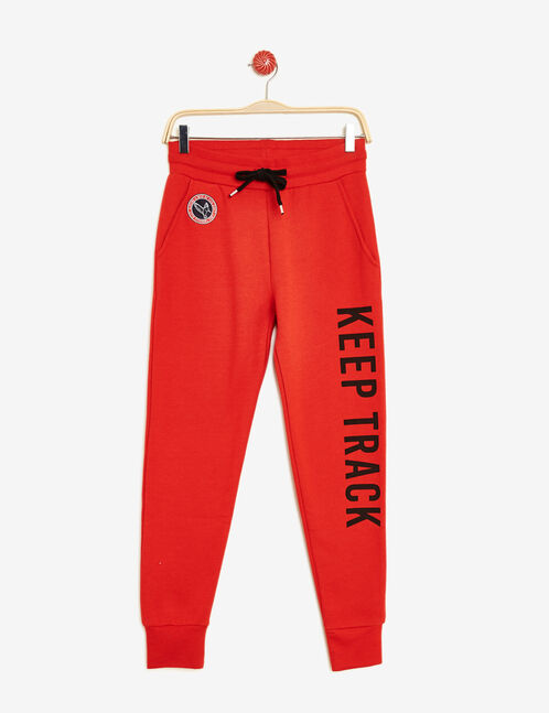 Red slim-fit joggers