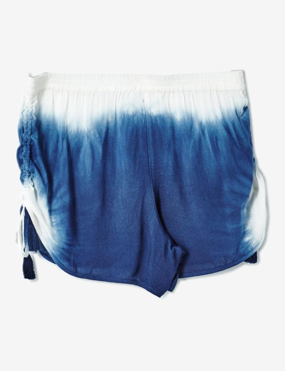 short fluide tie dye bleu et blanc femme jennyfer. Black Bedroom Furniture Sets. Home Design Ideas