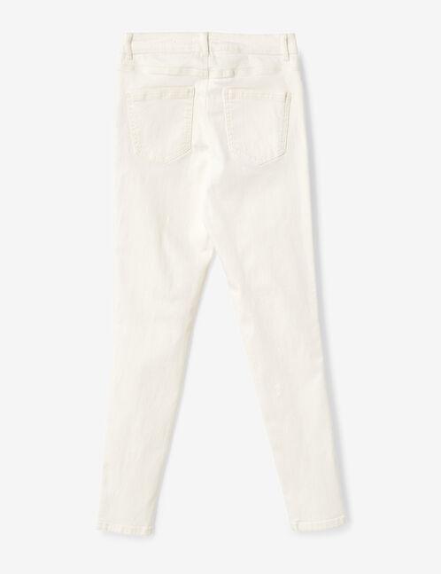 pantalon taille haute à cut écru