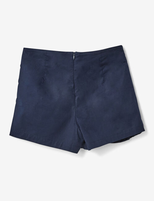 Navy blue miniskirt with frill detail