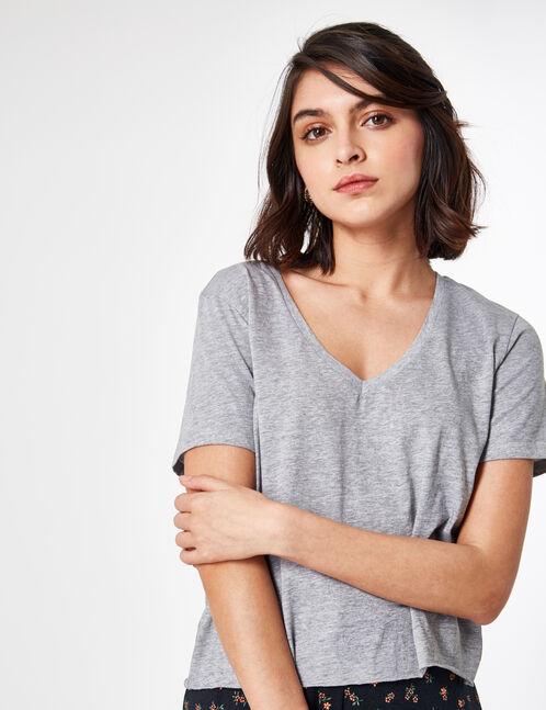 Basic grey marl T-shirt