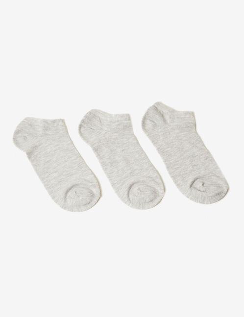 chaussettes basses gris chiné