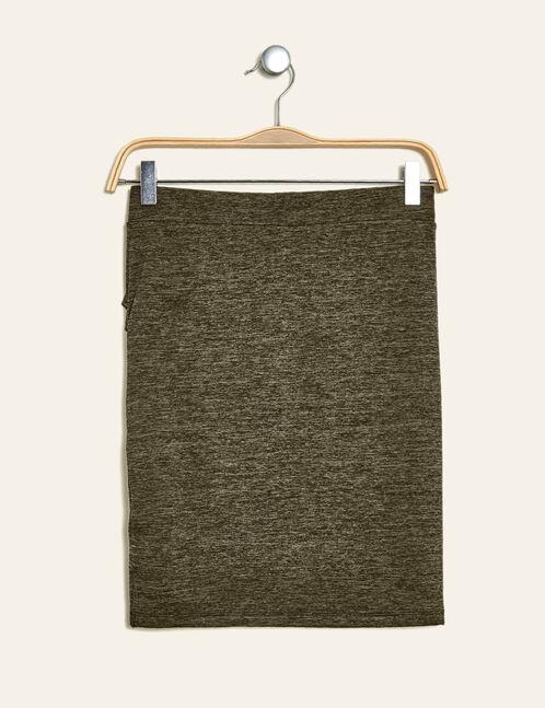 jupe avec plis kaki chiné