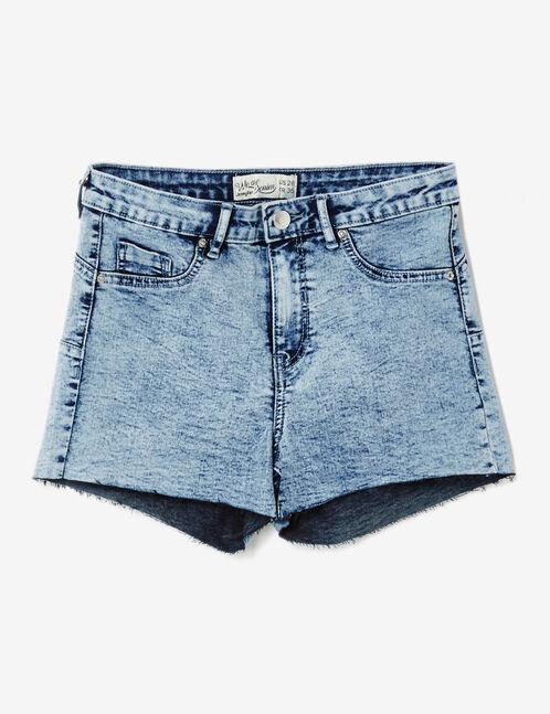 Bleached push-up denim shorts