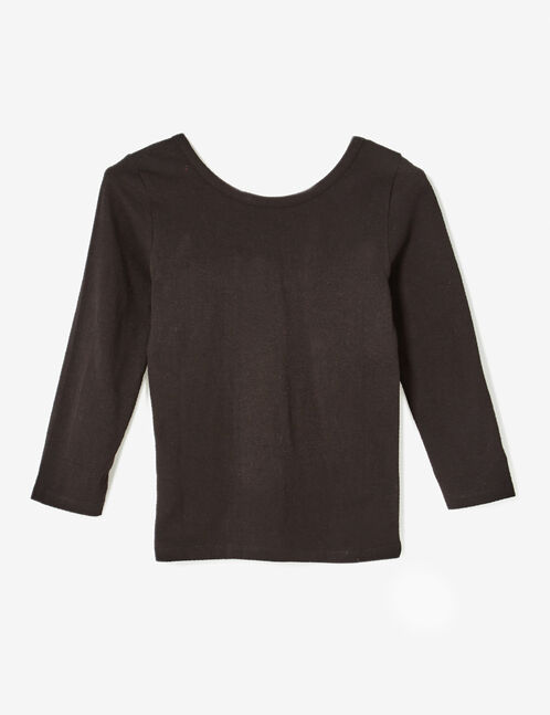 tee-shirt décolleté dos noir