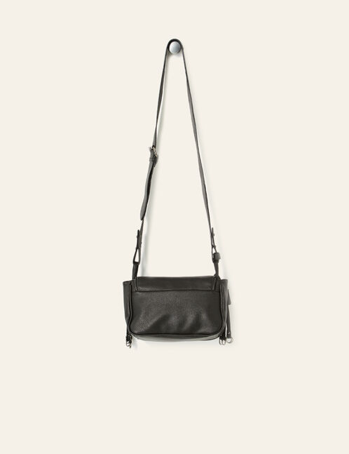 Black crossbody bag with metal details