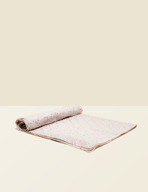 foulard imprimé argenté beige