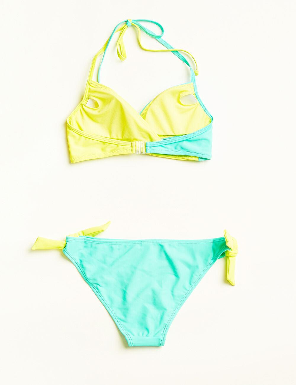 maillot de bain crois turquoise clair et jaune femme jennyfer. Black Bedroom Furniture Sets. Home Design Ideas