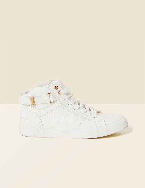 White hi-top trainers