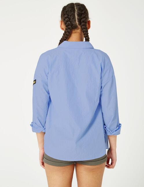 Khaki high-waisted turn-up shorts