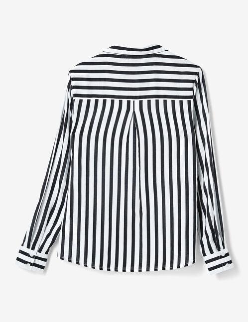 chemise rayée écrue et noire