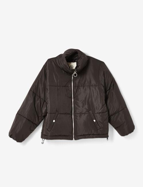 Black oversized padded jacket