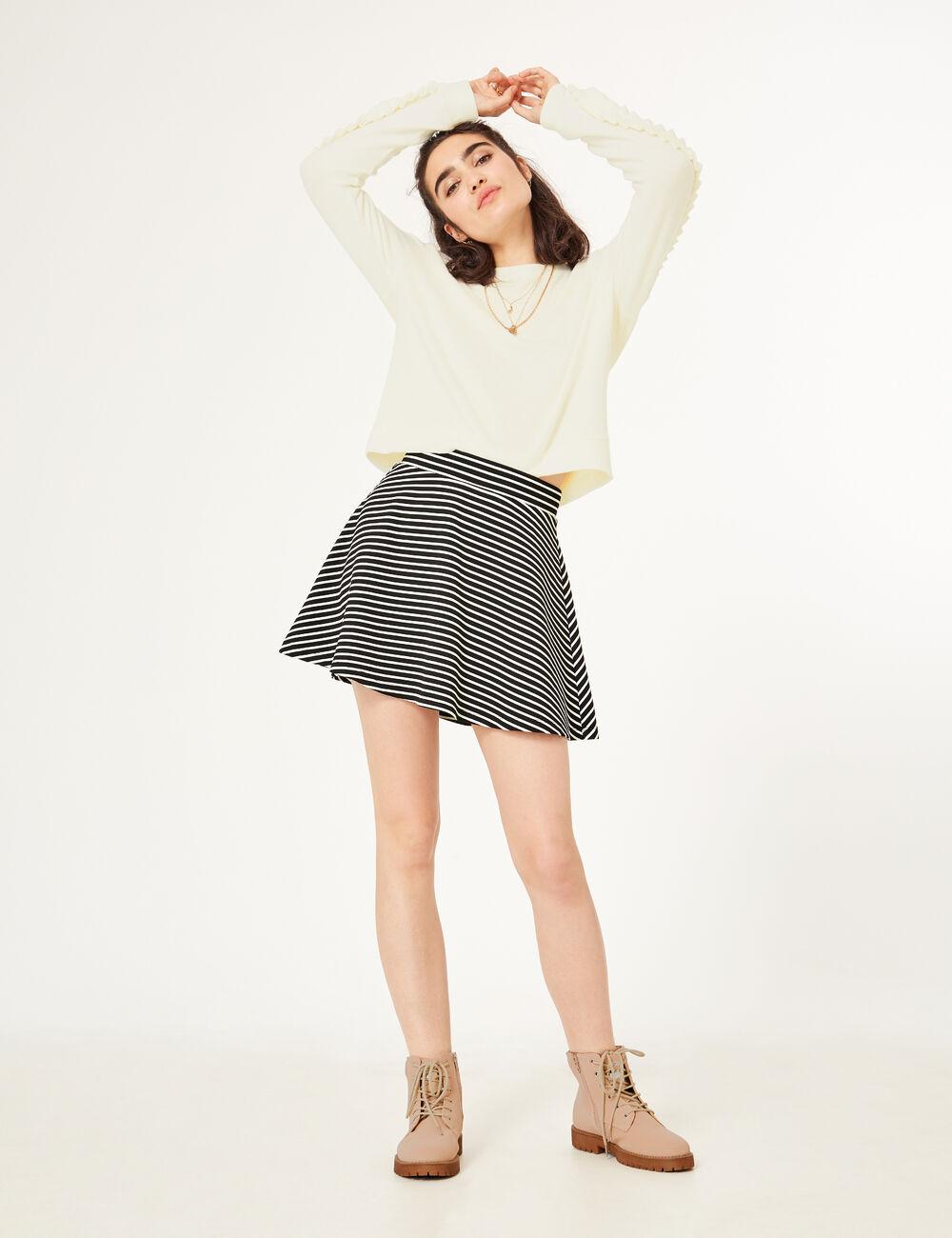jupe jean blanche fashion designs. Black Bedroom Furniture Sets. Home Design Ideas