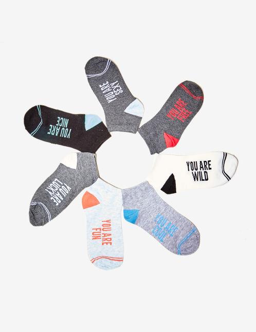 chaussettes à message multicolore