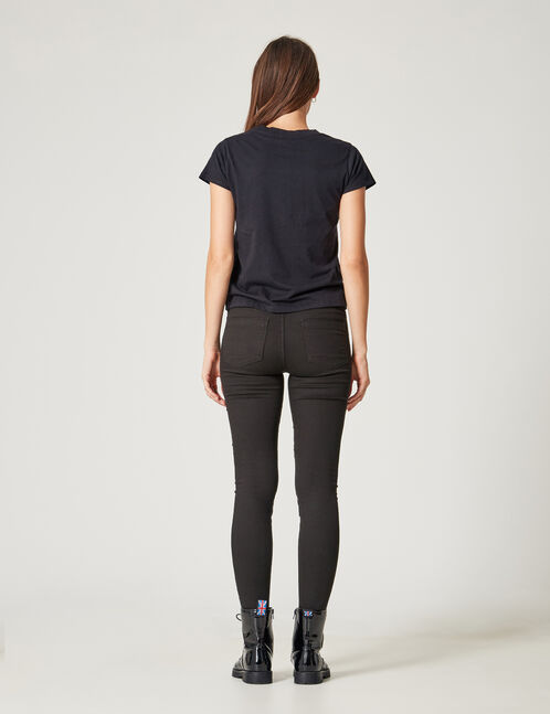Black skinny trousers with sequin detail