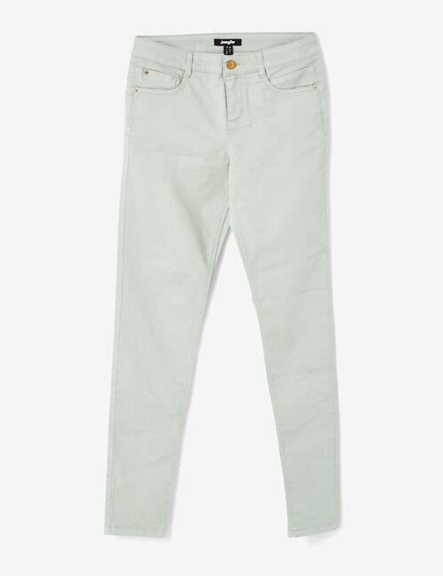Sea green skinny push-up trousers