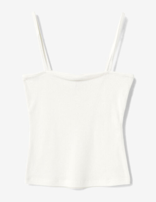 Cream camisole with spaghetti straps
