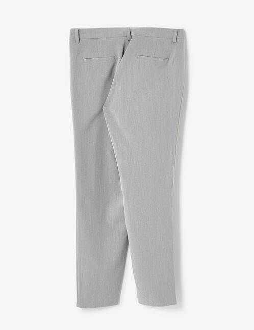 Grey tailored trousers with frill detail