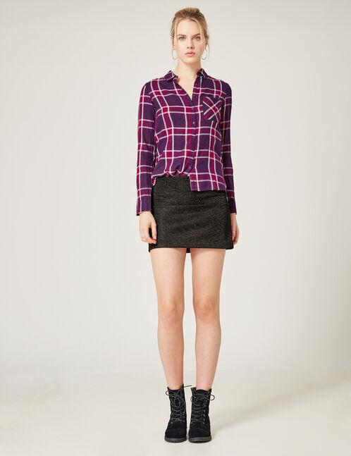 Black skirt with lurex detail
