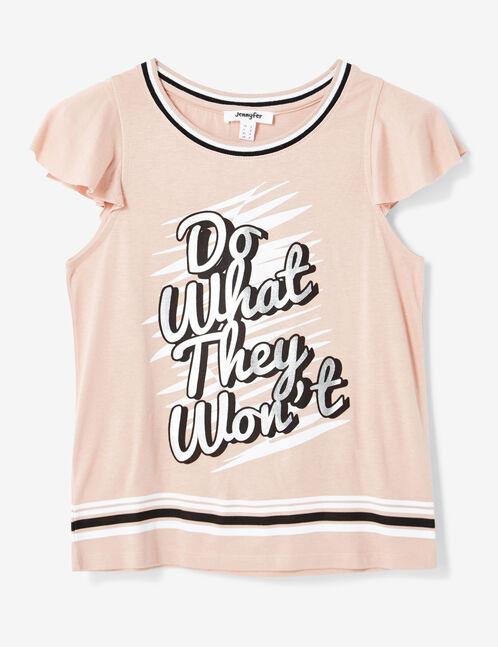 tee-shirt imprimé rose clair