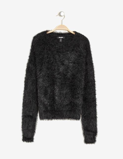 Black imitation mohair jumper