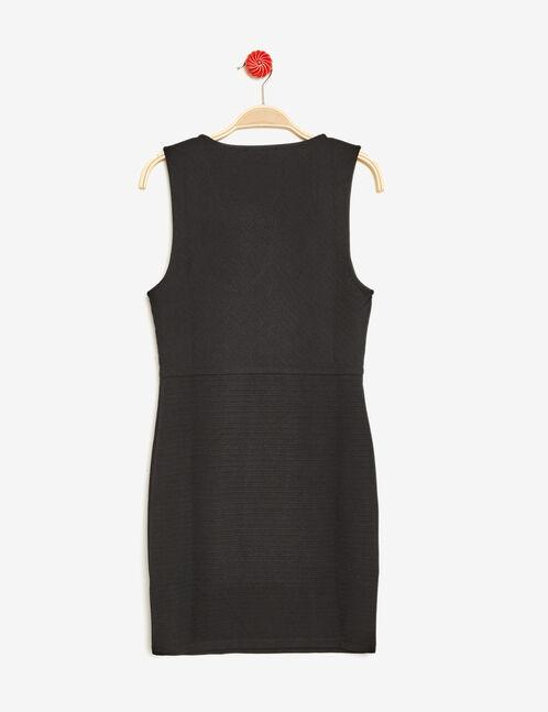 robe texturée ajustée noire