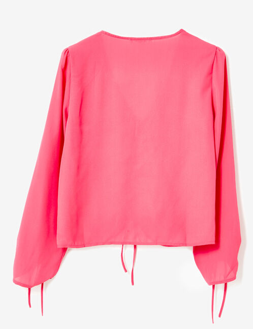 Fuchsia ruched blouse