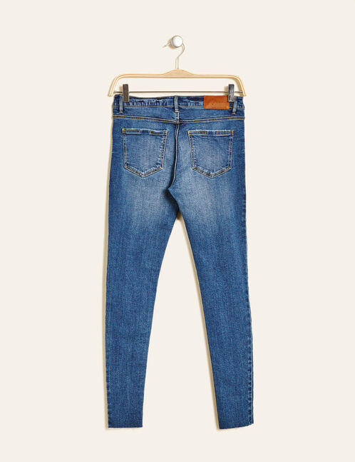 jean skinny avec cut medium blue