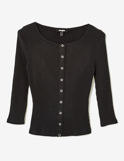 Black top with press-stud detail