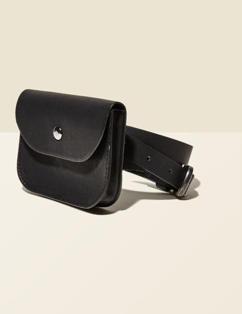 ceinture avec pochette noire