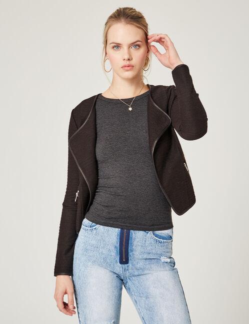 veste jetée noire