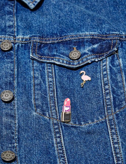 Retro pin badges