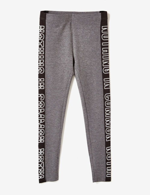 "Charcoal grey marl ""nothing in common"" leggings"
