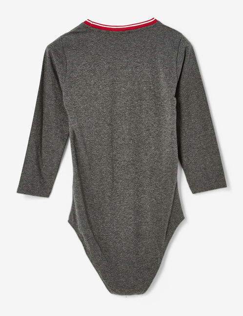 top body howdy gris anthracite chiné