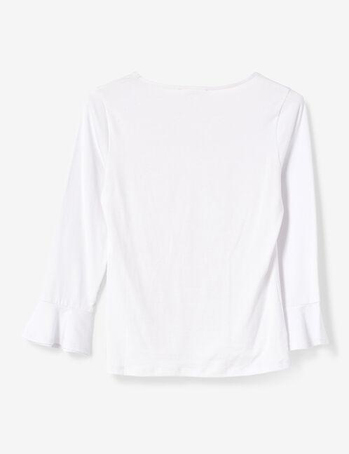 Cream top with pagoda sleeves