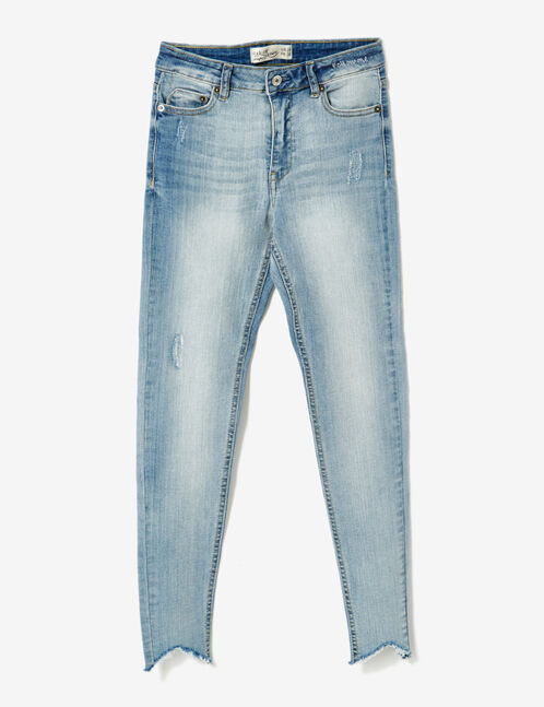 "Light blue ""follow me"" skinny jeans"