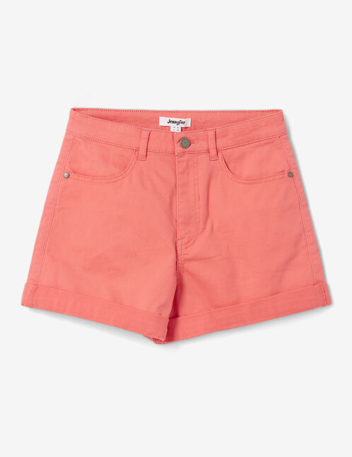 short avec revers corail