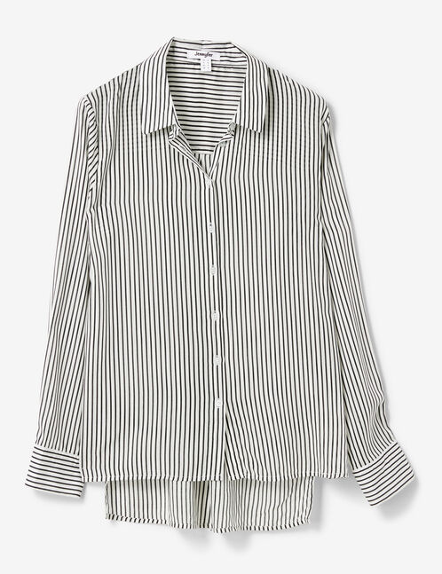Cream and black striped shirt