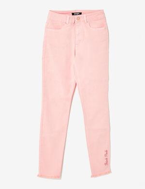 pantalon think pink rose clair