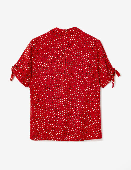 Red polka dot blouse