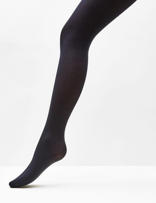 Basic black and burgundy tights
