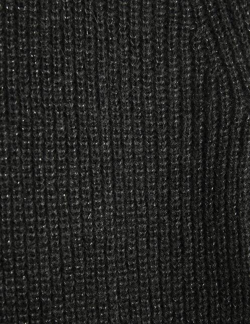 Black jumper with lurex detail