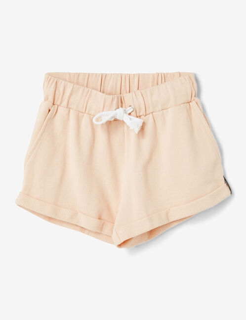 Light pink jersey shorts