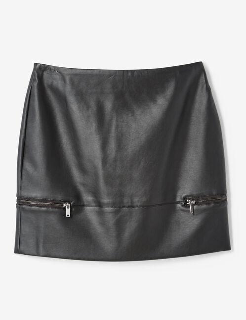 jupe avec zips déco noire