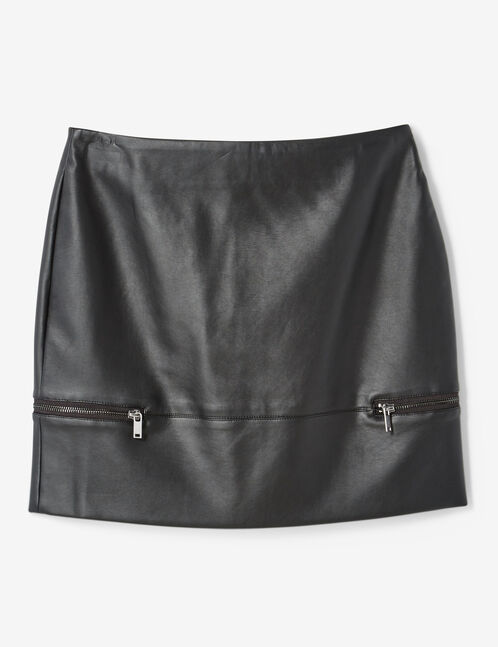 Black skirt with decorative zip detail