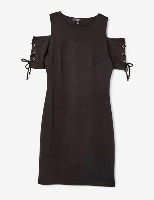 robe avec laçages noire