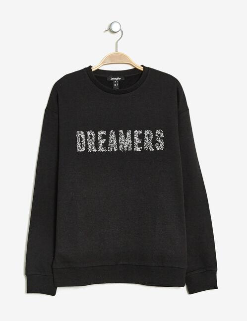 sweat dreamers en strass noir